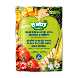 Baby Gourmet - Black Bean, Sweet Corn, Chicken & Quinoa Organic Baby Food