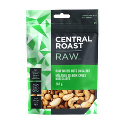 Central Roast - Raw Mixed Nuts Unsalted - Bag - ORGANIC (260g)