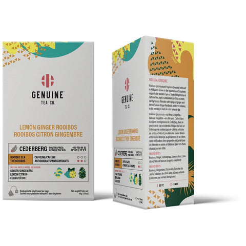 Genuine Tea - Lemon Ginger Rooibos (15 bags)