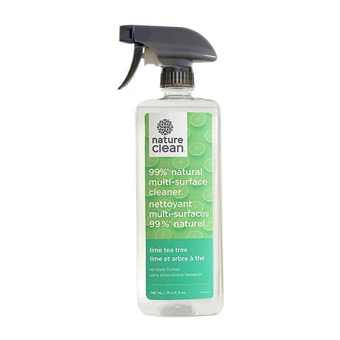 Nature Clean - Multi-Surface Spray Cleaner, Lime & Tea Tree (740ml)
