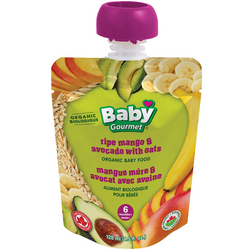 Baby Gourmet - Ripe Mango & Avocado with Oats Organic Baby Food