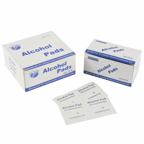 Individual Alcohol Pads - 70% Isopropyl Alcohol (100 packs)