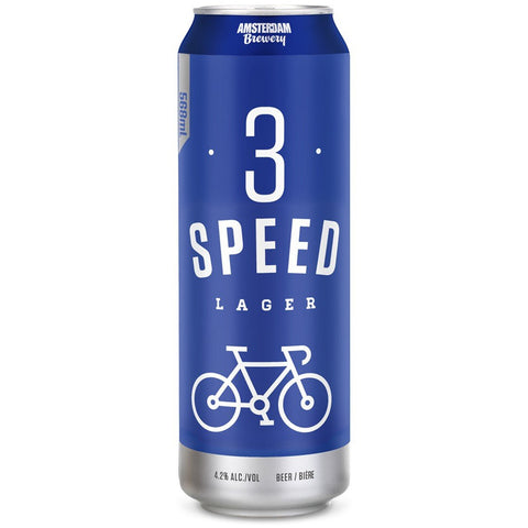 Amsterdam - 3 Speed Lager (6 x 473ml Cans) (*alcohol delivery charge)