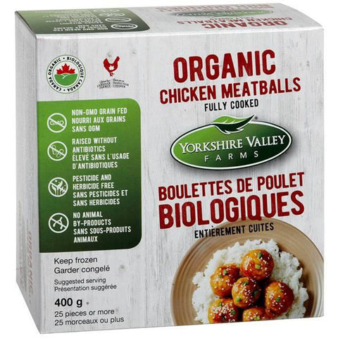 Yorkshire Valley Farms - Organic Fully Cooked Chicken Meatballs (400g)