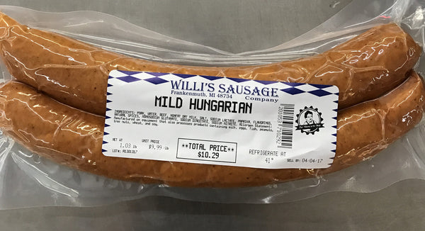 Hungarian Sausage - choose hot or mild