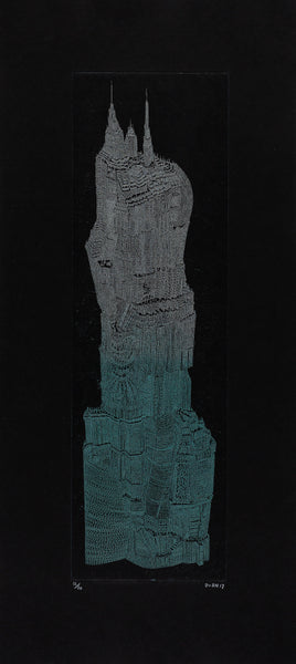 Tower II, Intaglio copper-etching, 29cm x 64cm (unframed)