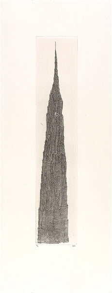 Tower I, Intaglio copper-etching III, 29cm x 70cm (framed)