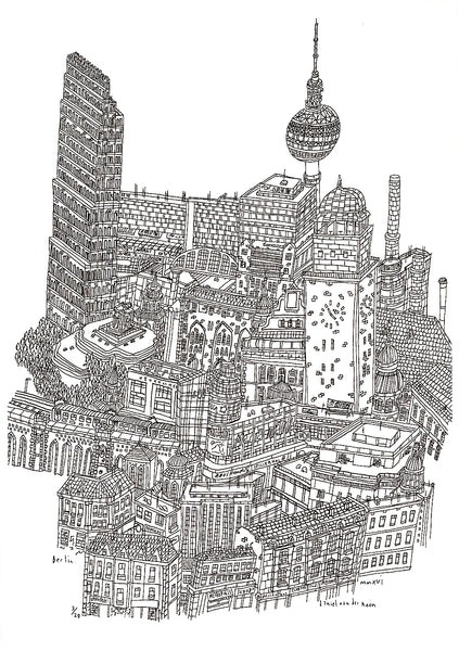 Berlin - 21cm x 29,5cm (limited print edition)