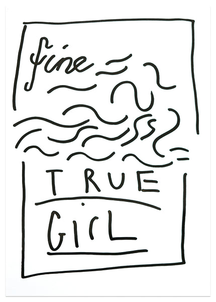 Fine True Girl, 21cm x 29cm