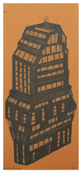 Tower Study of a building near Shibuya-crossing, 12.5cm x 27cm