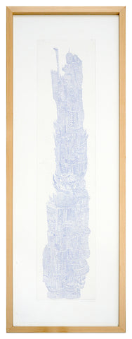 Tower IV, Intaglio copper-etching 34cm x 104cm (unframed)
