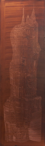 """Treasure Tower I"" Intaglio copper-etching - 29cm x 64cm"