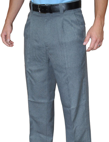 BBS375-Smitty Pleated Combo Pants with Expander Waist Band - Available in Heather, Charcoal Grey
