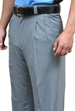 "BBS391-Smitty ""4-Way Stretch"" Pleated Combo Pants-Heather Grey"