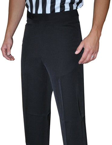 BKS290-Smitty Lightweight Tapered Black Flat Front Pants w/ Western Cut Pockets