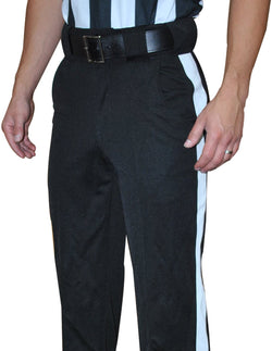 "FBS185-Smitty Black Tapered Fit Warm Weather Pants w/ 1 1/4"" White Stipe"