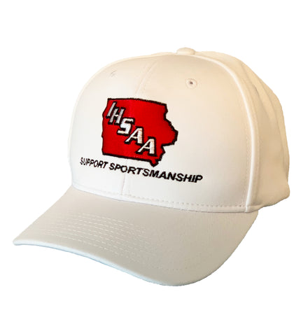 IA487-IHSAA-Richardson Flex-Fit Black/White Football Hat
