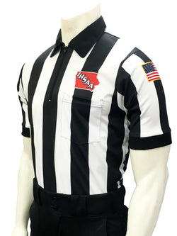 USA137-601IA- Smitty USA - Dye Sub Body Flex Iowa Football Short Sleeve Shirt 2.25inch Stripe