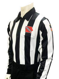 USA138IA-Smitty USA - Dye Sub Iowa Football Long Sleeve Shirt 2.25inch Stripe