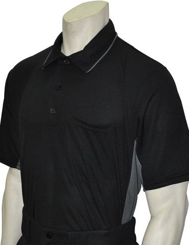 "USA312 - ""NEW"" Smitty Major League Style Umpire Shirt - Available in Black/Charcoal and Sky Blue/ Black"