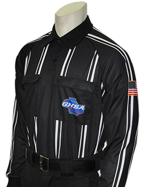 USA901GA Black- Dye Sub Georgia Black Soccer Long Sleeve Shirt