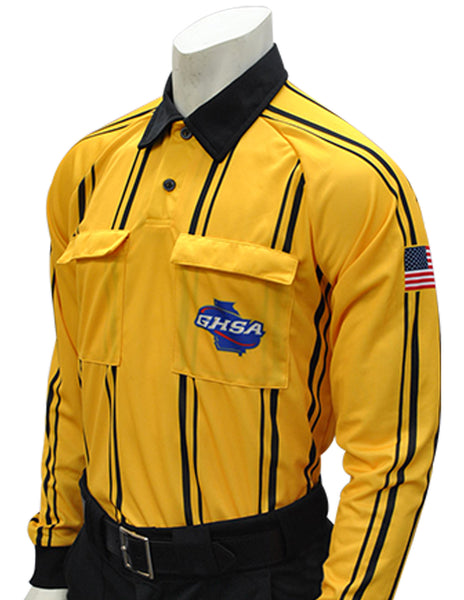 USA901GA Gold- Dye Sub Georgia Gold Soccer Long Sleeve Shirt