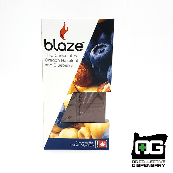 BLAZE : OREGON HAZELNUT & BLUEBERRY Chocolate Bar [CR]