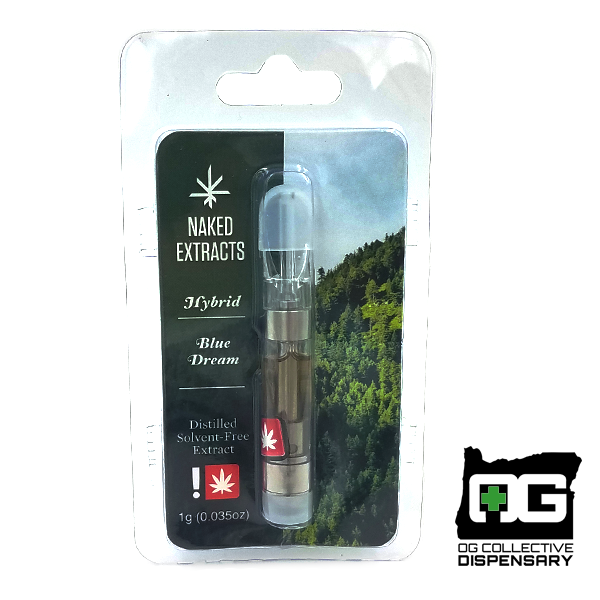 BLUE DREAM 1g CARTRIDGE from NAKED EXTRACTS [CR]