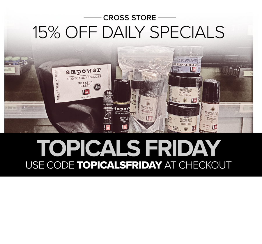Cross - Friday 15% Off Topicals