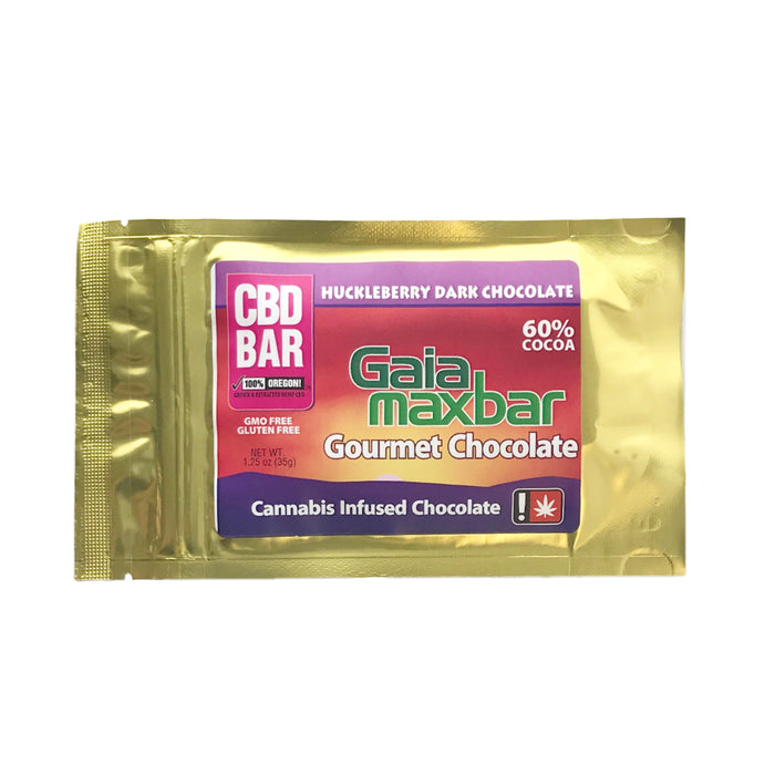 GAIA : CBD HUCKLEBERRY DARK CHOCOLATE Bar [CO]