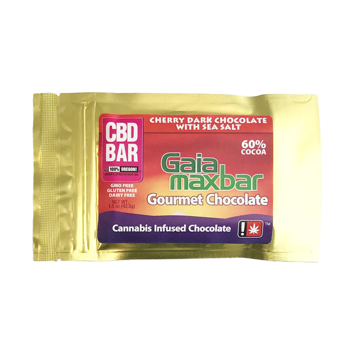GAIA : CBD CHERRY SEA SALT DARK CHOCOLATE Bar [CO]