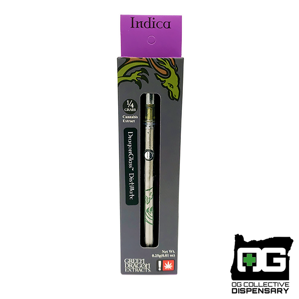 BLACKBERRY KUSH 1/4g DISPOSABLE PEN from GREEN DRAGON EXTRACTS [MO]