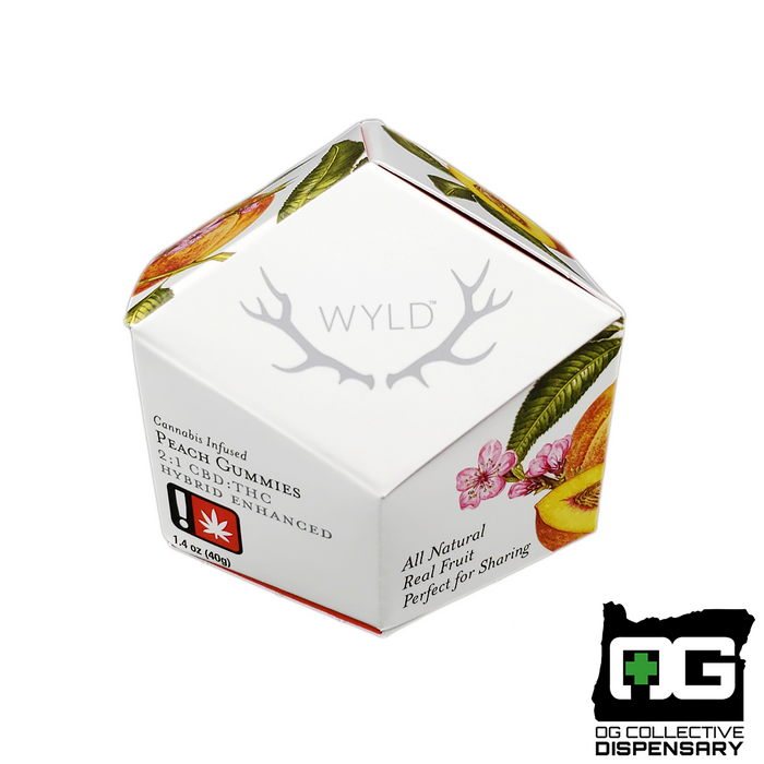 WYLD - PEACH 2:1 HYBRID GUMMIES 10pc [MO]