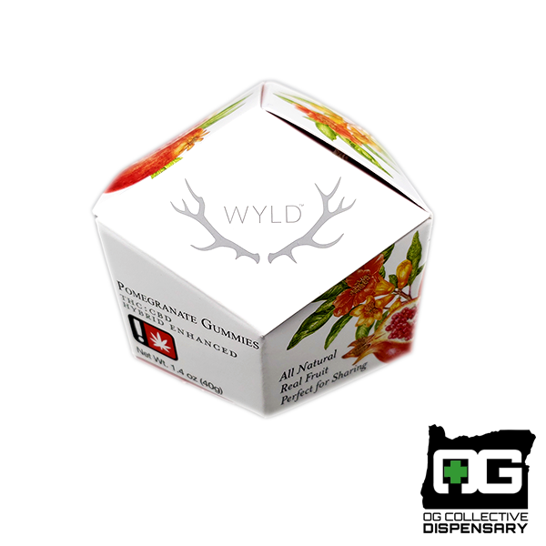 WYLD - POMEGRANATE 1:1 HYBRID GUMMIES 10pc [MO]