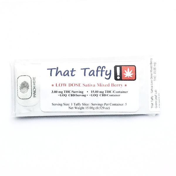 THAT TAFFY : SATIVA MIXED BERRY Low Dose [CO]