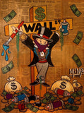 Alec Monopoly on the Wall. St. Cross