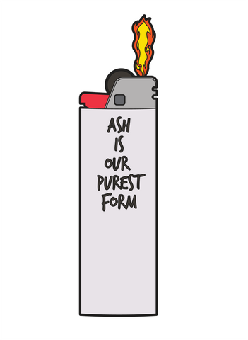 Ash is our purest form: Lil' Peep Memorial Pin (NOW shipping!)