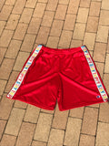 Stay Trippy Red Mesh Short