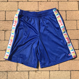 Stay Trippy Royal Blue Mesh Short
