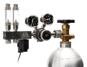 UNS Pro Dual Stage CO2 Regulator with Solenoid