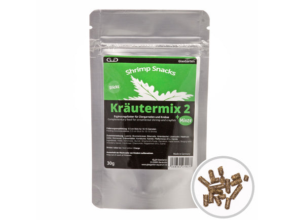 GlasGarten Shrimp Snacks - Kräutermix 2 + Mint