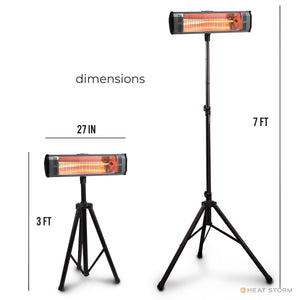 Heater + Tripod ~ 1500 Watt ~ Infrared Space Heater ~ Garage and Patio