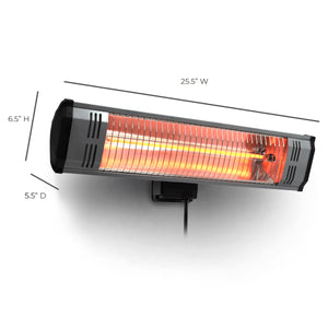 1500 Watt ~ Infrared Space Heater ~ Garage and Patio ~ Wall Mounted (Heater Only)