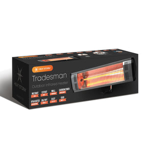 1500 Watt infrared space heater for tradesmen, outdoor, or patio.