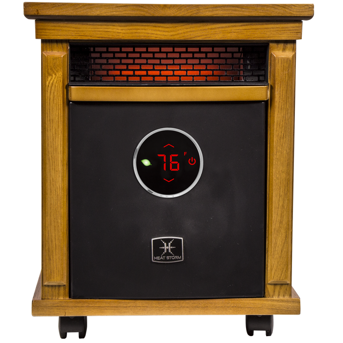 1500 Watt ~ Infrared Space Heater ~ Deluxe Cabinet ~ Oak