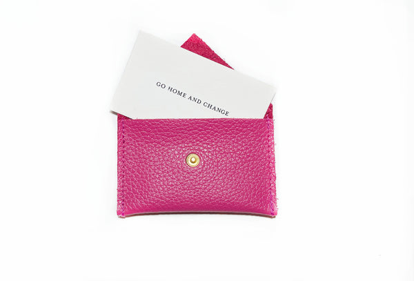 Card Holder- Bubble Gum Pink