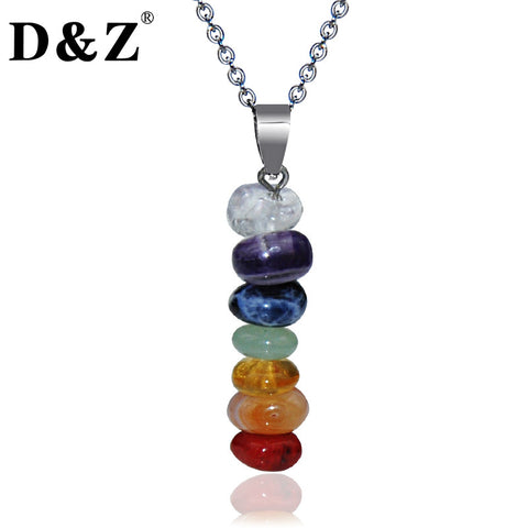 Yoga chakra bracelets and pendants cool crazy yoga store sale colorful healing natural stone beads yoga pendant necklaces mozeypictures Images