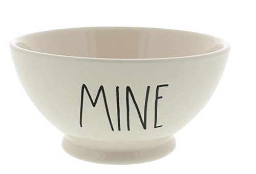 Rae Dunn Magenta Artisan Collection Bowl MINE Black Letters