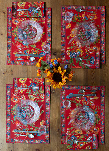 April Cornell Wildflower Brick Placemat Bundle