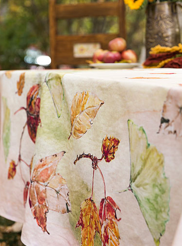 April Cornell Autumn Leaves Tablecloth